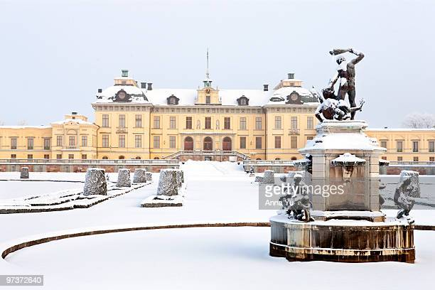 Drottningholm Palace (Sweden) in winter