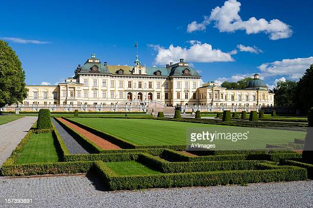 drottningholm palace (sweden) - castle stock pictures, royalty-free photos & images