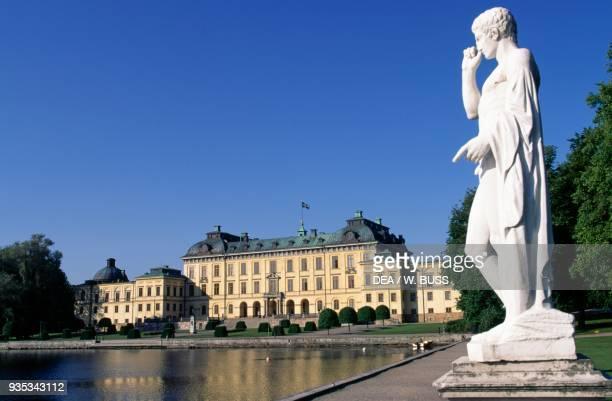 Drottningholm Royal Palace , by Nicodemus Tessin the Elder , overlooking Lake Malaren near Stockholm, Sweden.