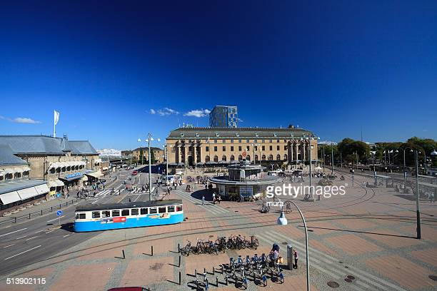 drottningtorget, göteborg - cable car stock pictures, royalty-free photos & images