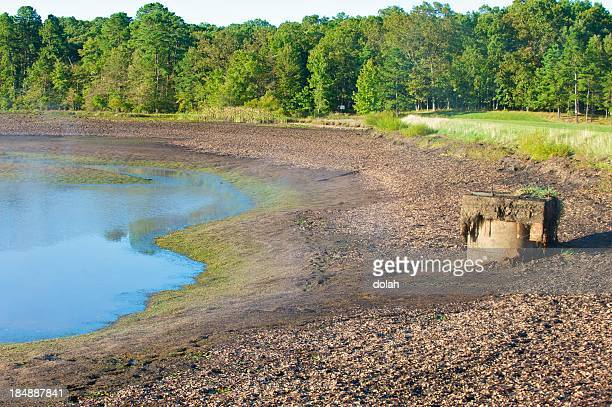 drought - lake bed stock photos and pictures