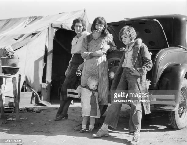 Drought Refugees, California, USA, Dorothea Lange, Farm Security Administration, February 1936.