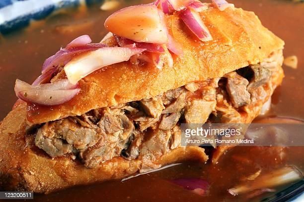 torta ahogada - guadalajara méxico fotografías e imágenes de stock