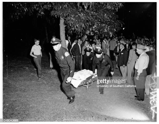 Drowning in MacArthur Park 23 July 1951 Robert L Sjoberg Ray Campuzano Ed Myer John Ray Thompson More descriptive information with originalsLos...