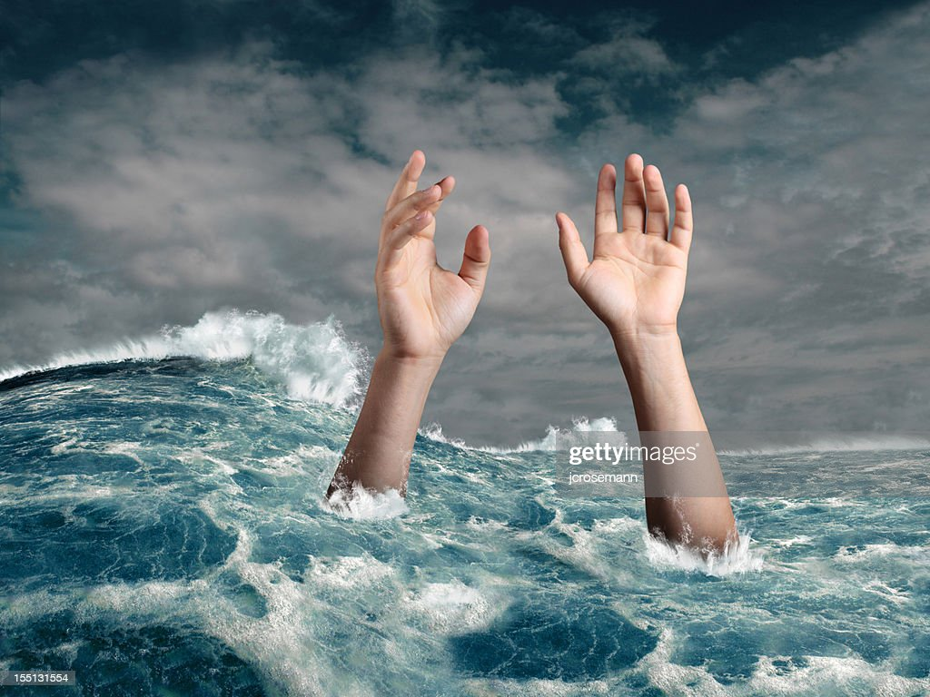 Drowning person : Stock Photo