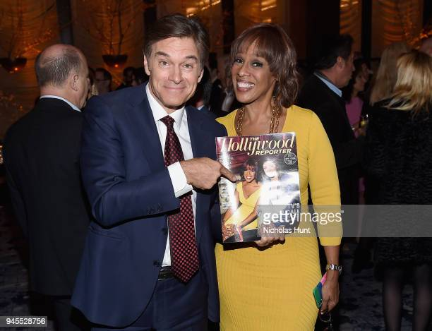 DrOz and Gayle King attend The Hollywood Reporter's Most Powerful People In Media 2018 at The Pool on April 12 2018 in New York City