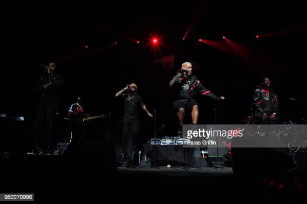 Dru Hill perform in concert during 90's Block Party at Fox Theater on April 27 2018 in Atlanta Georgia