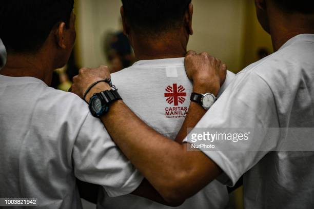 Drug dependents take part in a community church rehab session in Manila Philippines March 14 2018 More than 27000 have been killed as a result of a...