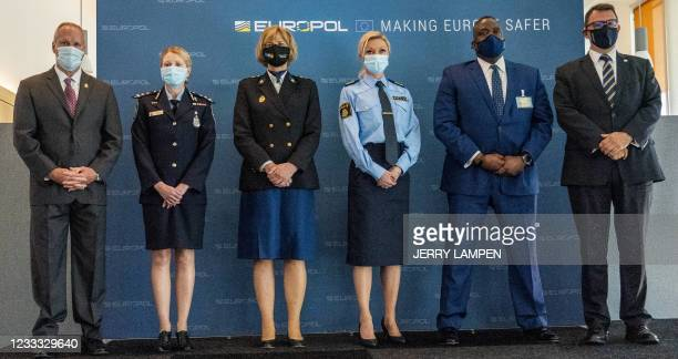 Drug Enforcement Administration Deputy Chief of Operations Matthew Donahue, Australian Federal Police Commander, Jennifer Hurst, Chief Constable of...