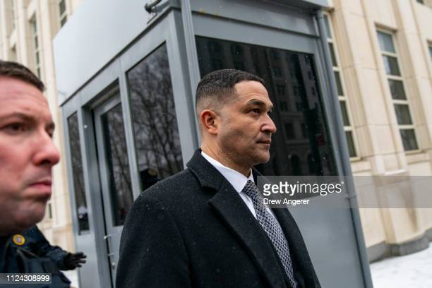 Drug Enforcement Administration , New York Division Special Agent in Charge, Ray Donovan,exits the U.S. District Court for the Eastern District of...