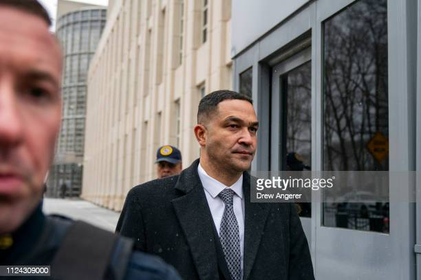 Drug Enforcement Administration New York Division Special Agent in Charge Ray Donovan exits the US District Court for the Eastern District of New...