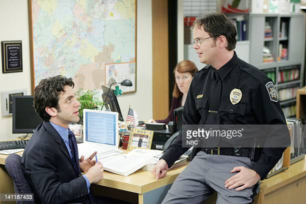 THE OFFICE Drug Testing Episode 20 Aired Pictured BJ Novak as Ryan Howard and Rainn Wilson as Dwight Schrute Photo by Chris Haston/NBCU Photo Bank