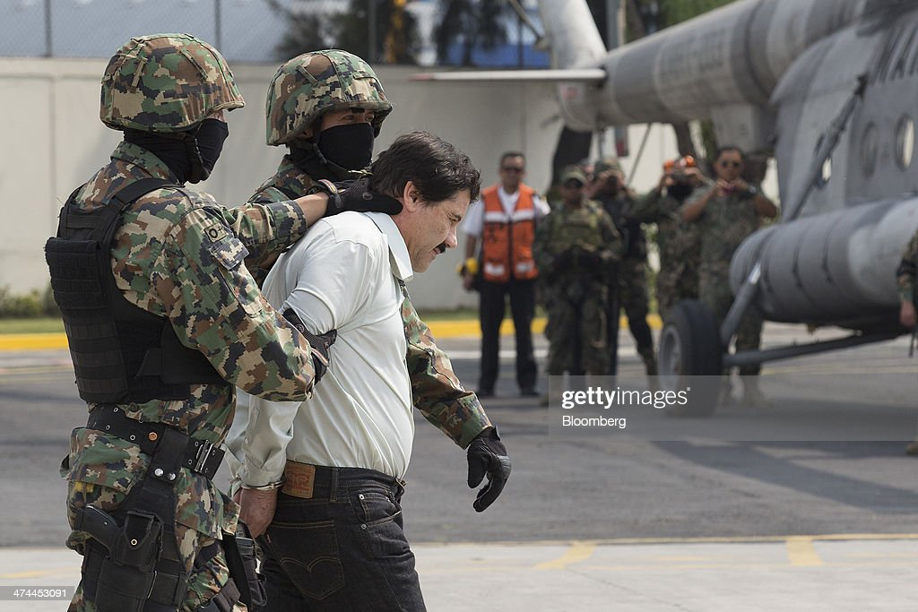 Most-Wanted Drug Leader Guzman Captured in Pacific Mexico Resort : News Photo