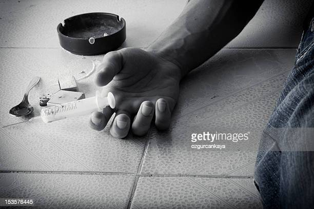drugs abuse - heroin addict arm stock photos and pictures
