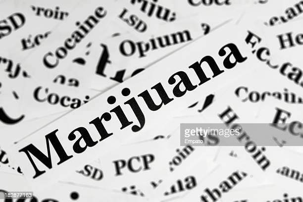 Drugs Concept - Marijuana.