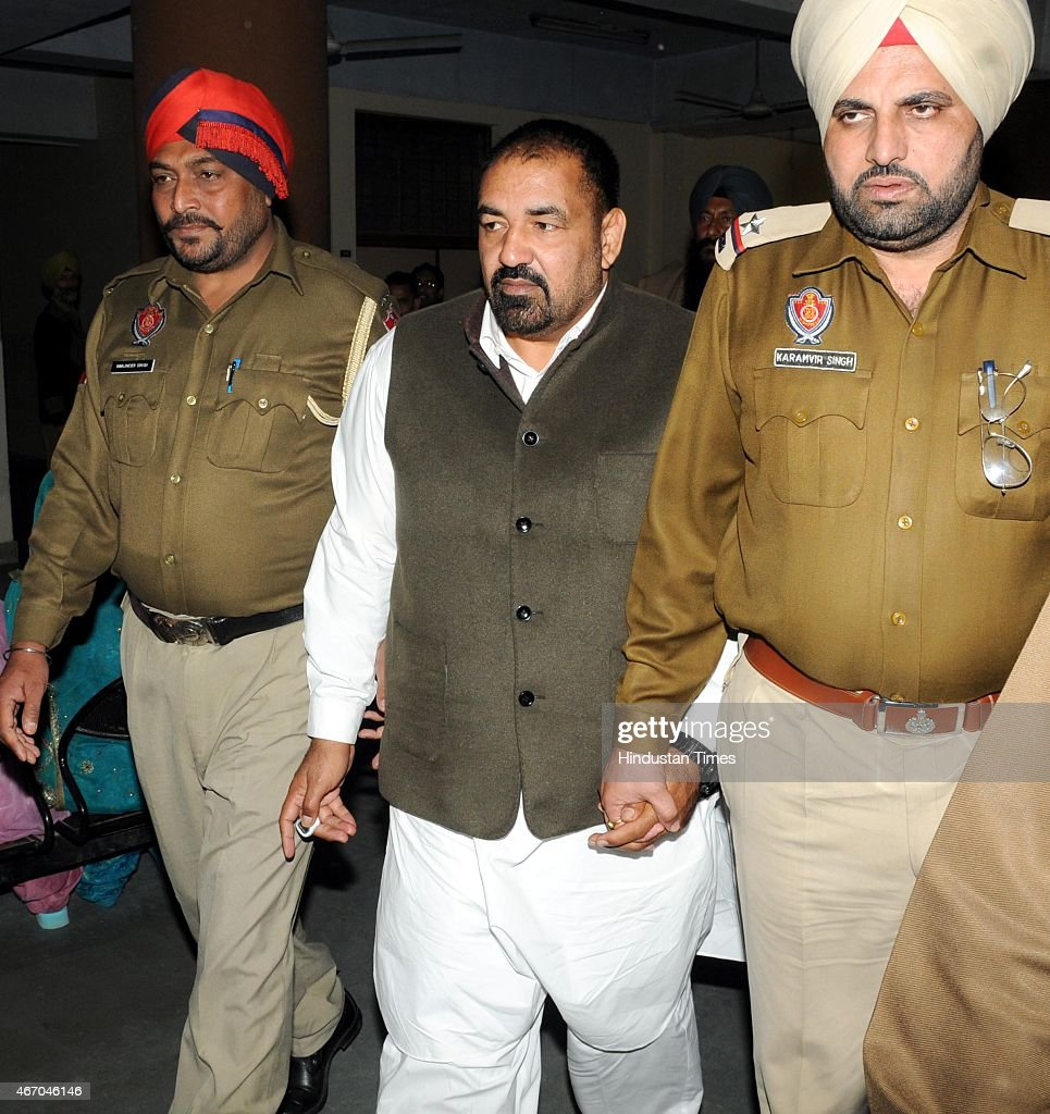 Drugs smuggler Jagdish Bhola appears District court on March 20 2015 in Patiala India Bhola an Arjuna Award winner in 1997 was dismissed as deputy...