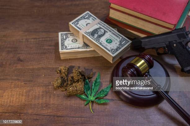 drugs with money and judgment - medical malpractice stock photos and pictures