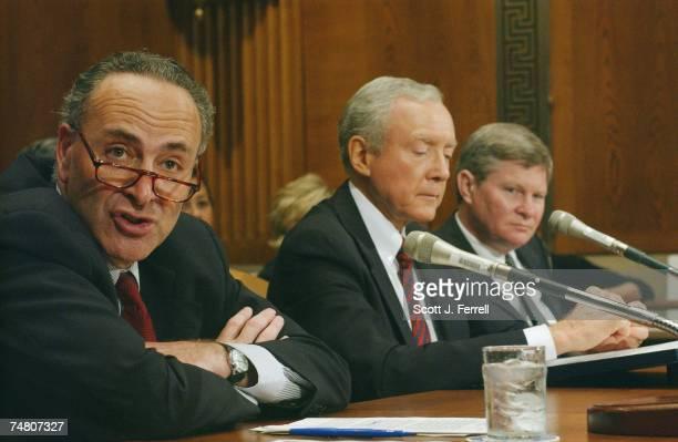 Sen. Charles E. Schumer, D-N.Y., Sen. Orrin G. Hatch, R-Utah, and Sen. Tim Johnson, D-S.D., during the Senate Health, Education, Labor and Pensions...