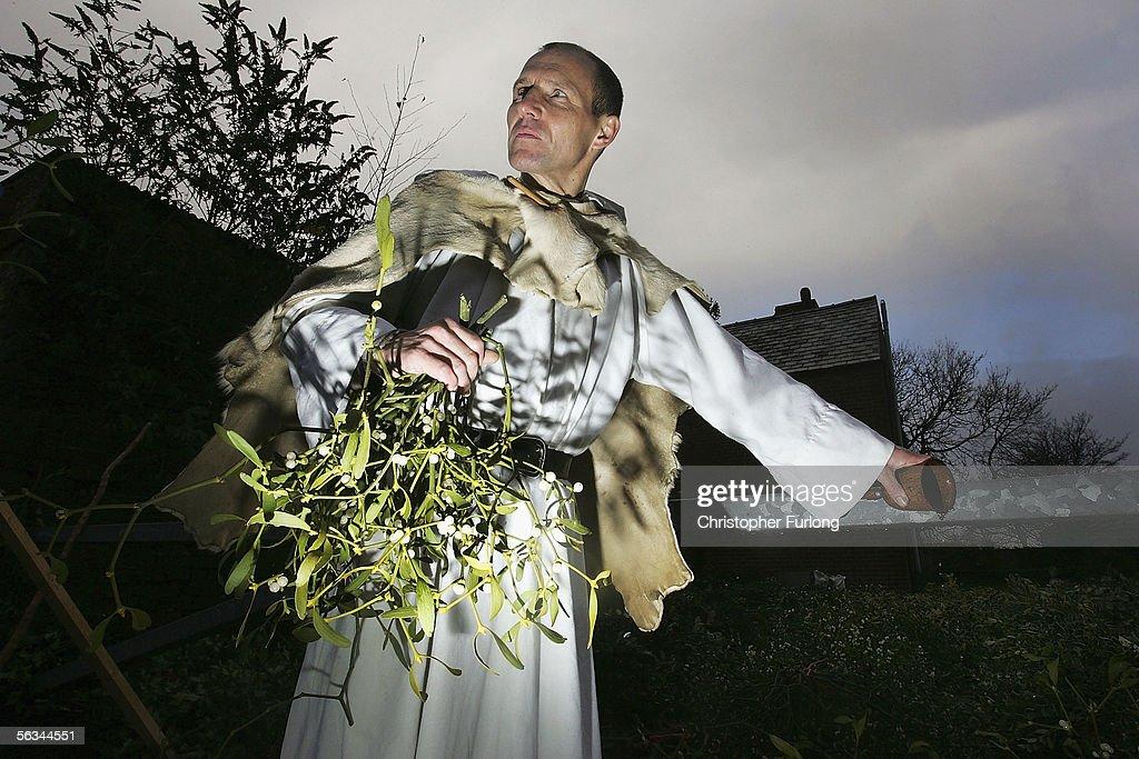 Christmas Mistletoe Blessed In Druid Ceremony : News Photo