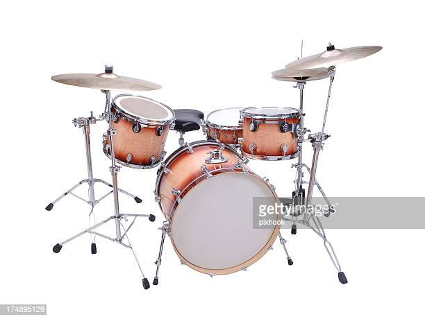 drum kit with path - drum kit stock photos and pictures