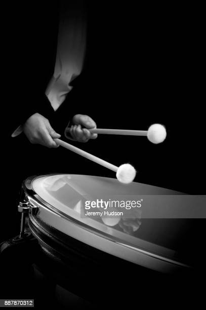 drum player - percussion instrument stock photos and pictures