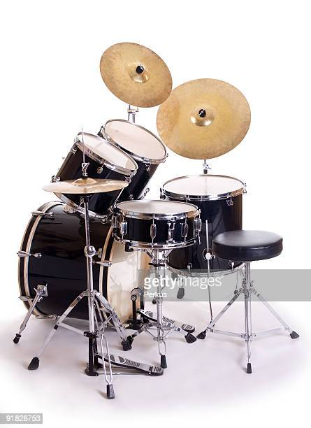 drum set on white five