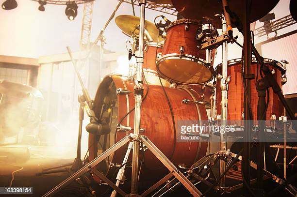 drumset - drum kit stock photos and pictures