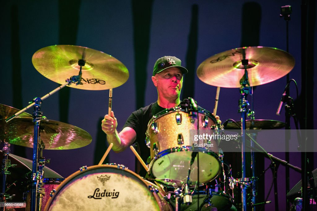 Drummer Adam Pfahler of Jawbreaker performs live on stage during Upstream Music Festival in Pioneer Square on June 2, 2018 in Seattle, Washington.