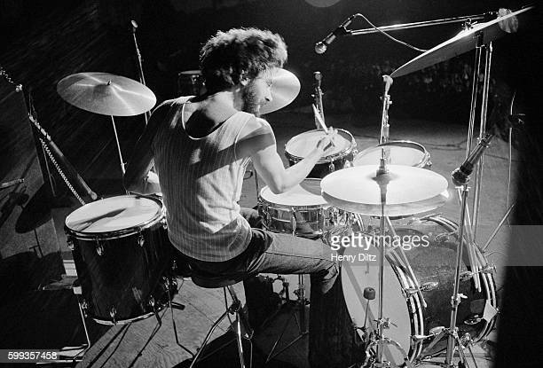 Drummer Adolfo de la Parra and the rest of Canned Heat perform at the free Woodstock Music and Art Fair The festival took place on Max Yasgur's dairy...