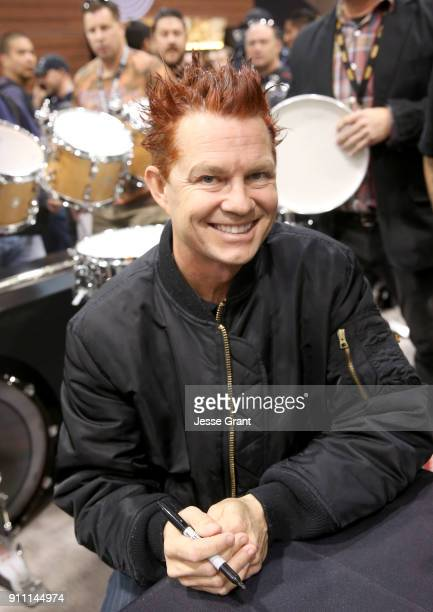 Drummer Adrian Young at The 2018 NAMM Show at Anaheim Convention Center on January 27 2018 in Anaheim California