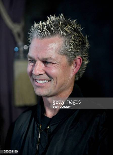 Drummer Adrian Young founding member of No Doubt attends the Strange 80's concert at The Fonda Theatre on October 12 2018 in Los Angeles California