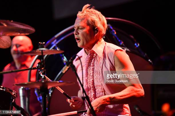 Drummer Adrian Young founding member of No Doubt performs onstage during the 7th Annual Adopt the Arts Benefit Gala at The Wiltern on March 07 2019...