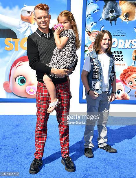 Drummer Adrian Young of No Doubt arrives at the Premiere Of Warner Bros Pictures' 'Storks' at Regency Village Theatre on September 17 2016 in...