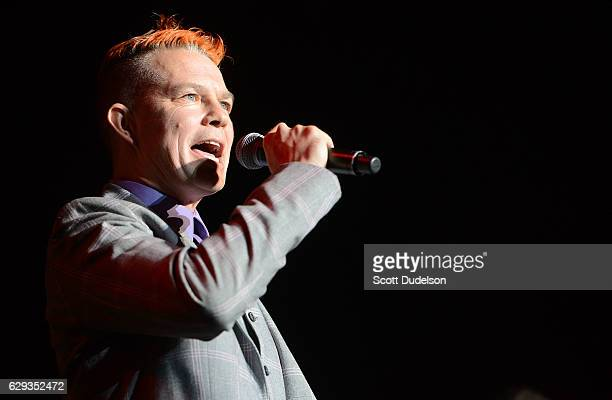Drummer Adrian Young of the band No Doubt appears onstage during KROQ's Almost Acoustic Christmas at The Forum on December 11 2016 in Inglewood...