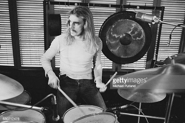 Drummer Alan White of English progressive rock group Yes 19th September 1974