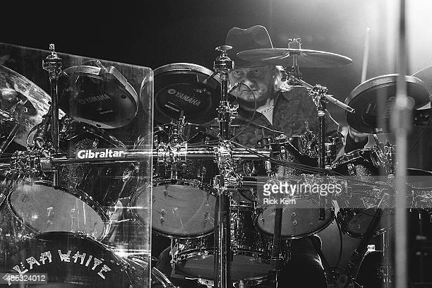 Drummer Alan White of YES performs in concert at the Majestic Theatre on August 26 2015 in San Antonio Texas