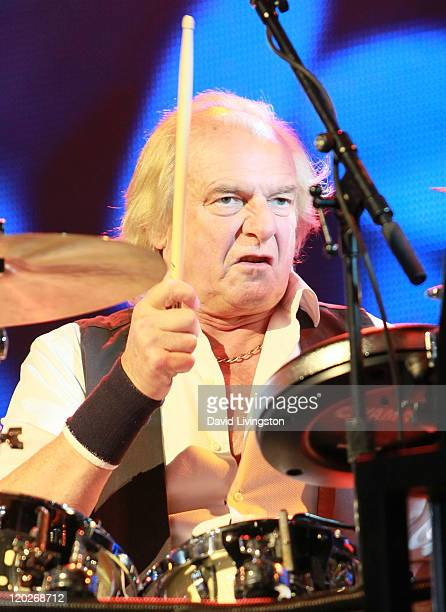 Drummer Alan White of YES performs on stage at the Greek Theatre on August 2 2011 in Los Angeles California