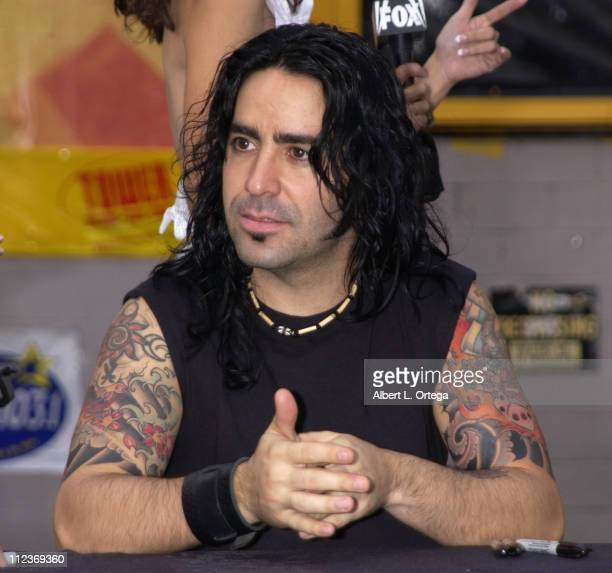 Drummer Alex Gonzalez during Signing of Latin Artist Mana at Tower Records on Sunset in West Hollywood California United States