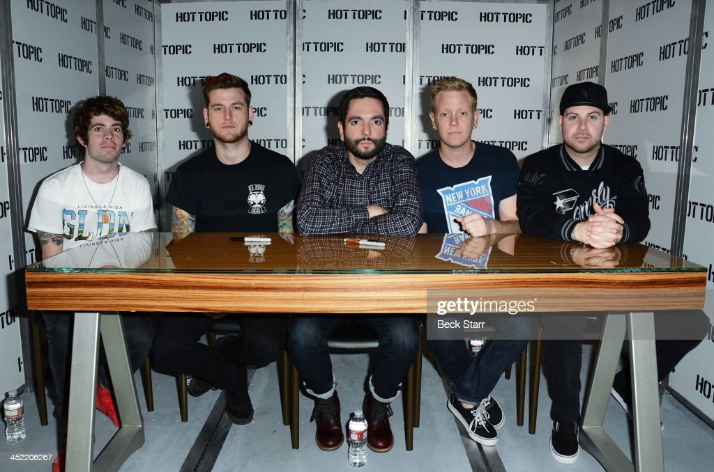 A day to remember meet and greet with fans photos and images getty drummer alex shelnutt guitarist neil westfall vocalist jeremy mckinnon bassist joshua woodard and m4hsunfo