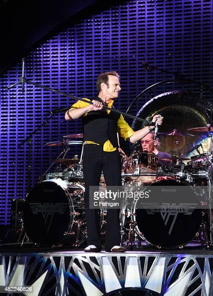 Drummer Alex Van Halen And David Lee Roth Of Van Halen Perform At News Photo Getty Images