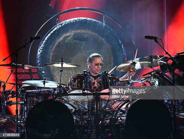 Drummer Alex Van Halen of Van Halen performs onstage during the 2015 Billboard Music Awards at MGM Grand Garden Arena on May 17 2015 in Las Vegas...