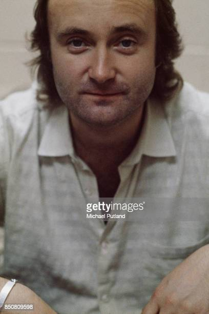 Drummer and singer Phil Collins of rock group Genesis 1986