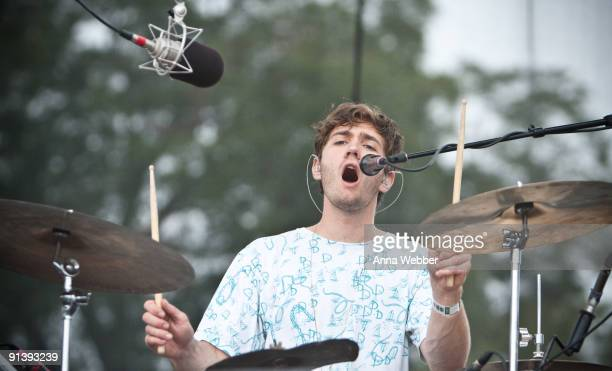 Drummer and Vocalist Christopher Bear of Grizzly Bear performs on day 2 of the Austin City Limits Music Festival at Zilker Park on October 3, 2009 in...