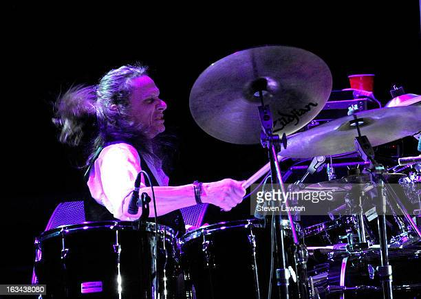 Drummer BB Borden of The Marshall Tucker Band performs at The Orleans Showroom at The Orleans Hotel Casino on March 9 2013 in Las Vegas Nevada