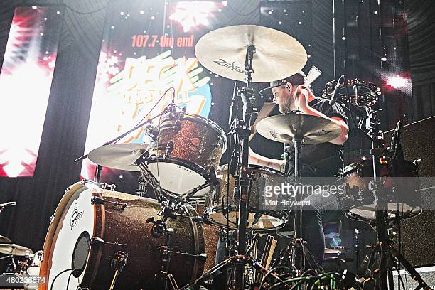 Drummer Ben Thatcher of the band Royal Blood performs on stage during Deck the Hall Ball hosted by 1077 The End at KeyArena on December 9 2014 in...