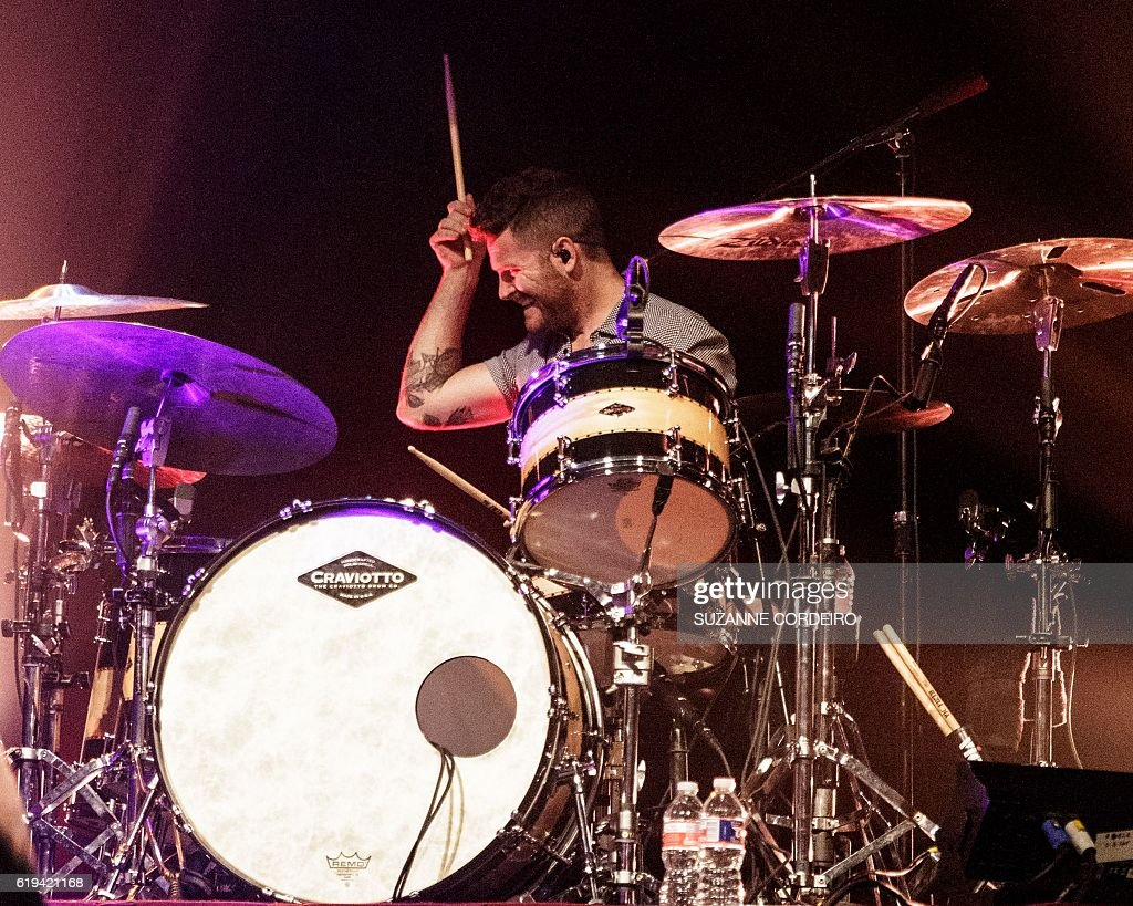 Drummer Ben Wysocki of The Fray performs live in concert at ACL Live at the Moody Theater on October 30, 2016 in Austin, Texas. / AFP / SUZANNE