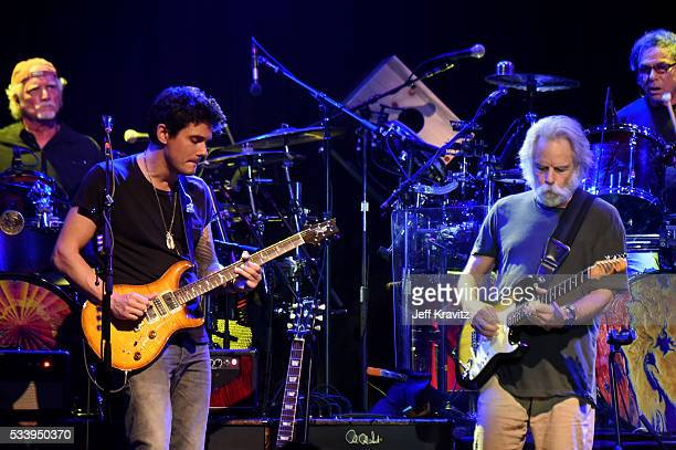 Drummer Bill Kreutzmann Guitarists John Mayer Bob Weir and Drummer Mickey Hart of Dead and Company perform during the 'Pay it Forward' concert at The...