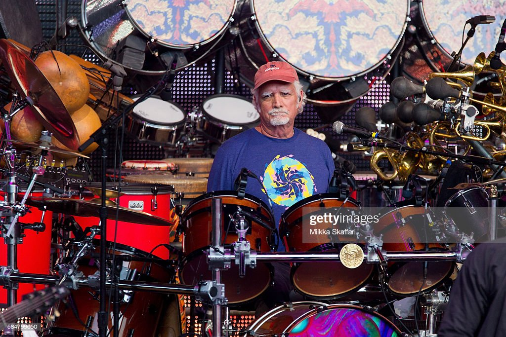 Drummer Bill Kreutzmann of Dead and Company performs at Shoreline Amphitheatre on July 30, 2016 in Mountain View, California.