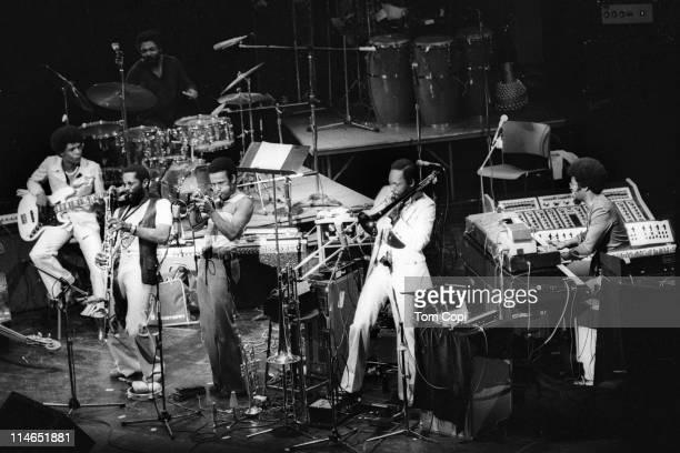 Drummer Billy Hart bassist Buster Williams saxophonist Bennie Maupin trumpet Eddie Henderson Julian Priester on trombone and Herbie Hancock on...