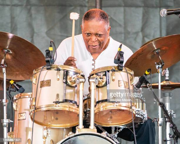 Drummer Billy Hart performs during the Newport Jazz Festival 2019 at Fort Adams State Park on August 02, 2019 in Newport, Rhode Island.